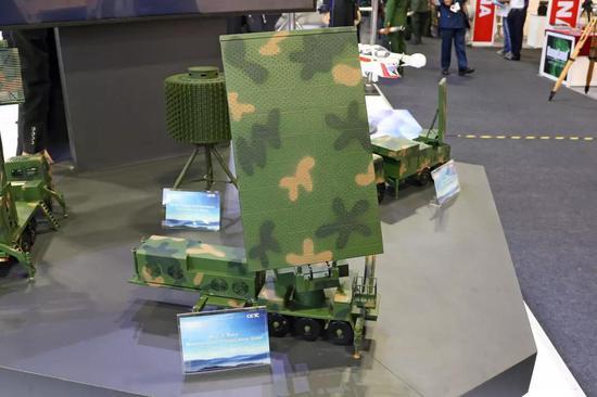 △本周在亚洲防务展上展出的SLC-7雷达