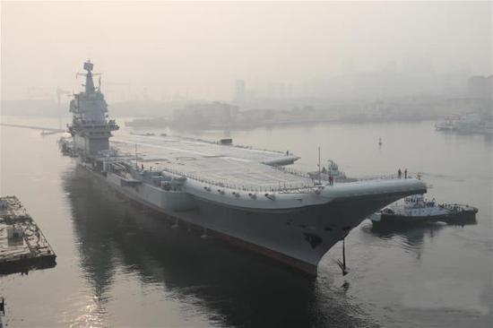 外媒称中国国产航母吨位仅为美福特级50% 对美无威胁三井由美