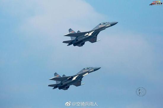 图片:东部战区空军某旅的歼-16,感谢原作者