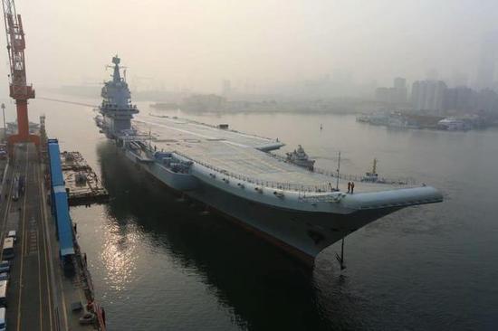 图片:5月13日首航的国产航母