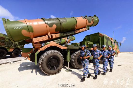 美媒:中国在南海岛礁降落轰6K 严重威胁美军优势