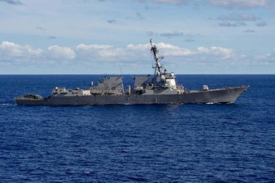"""美国军舰DDG-89""""马斯廷""""号(资料图)"""