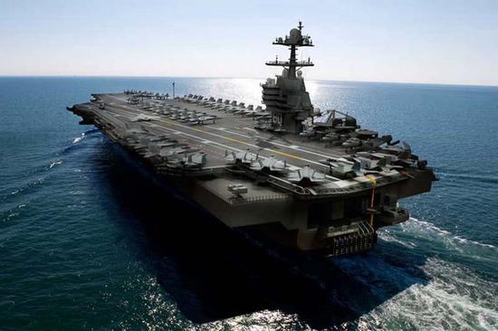 美最强航母刚服役1年就遇严重问题 被迫回船厂大修