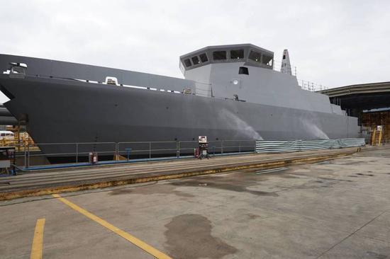 委托意大利造的船壳已经完成下水,但永远也成不了真正的猎雷舰了