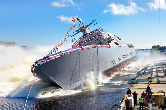 美国海军造舰速度也不差 濒海战斗舰一年要服役4艘