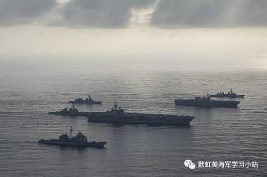美日航母编队齐巡南海却无实战意义 我军已部署完备