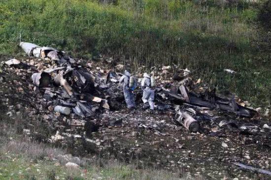 图为被以军击落的伊朗无人机残骸