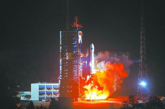 中国今年已完成十次北斗卫星发射 全流程时间缩短1/3