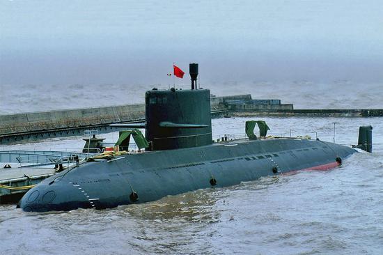 資料圖:中國海軍新型常規潛艇