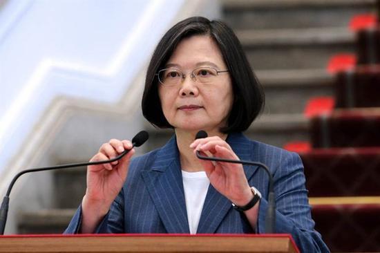 """蔡英文声称要让""""台湾成为正常化国家"""" 国台办回应"""