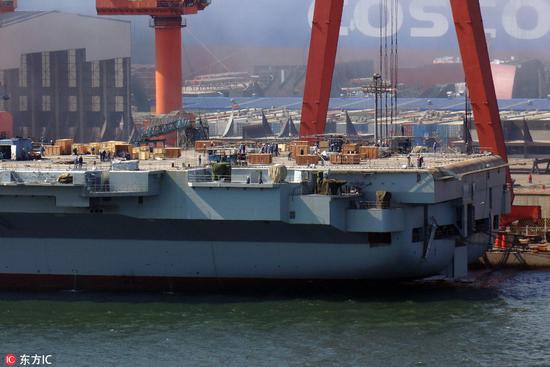 中国国产航母今日或海试 多艘拖船已集结就位(图)老爸向前冲演员表