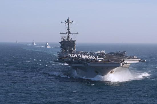 美航母赶赴地中海 宁愿中断北约联演也要威慑俄罗斯