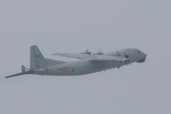人民空军生日当天 我军运9反潜机例行奔赴台湾空域