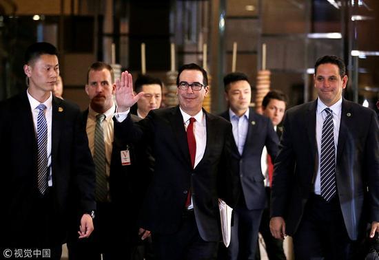 美财政部长姆努钦及商务部长罗斯率贸易代表团访华 图自视觉中国