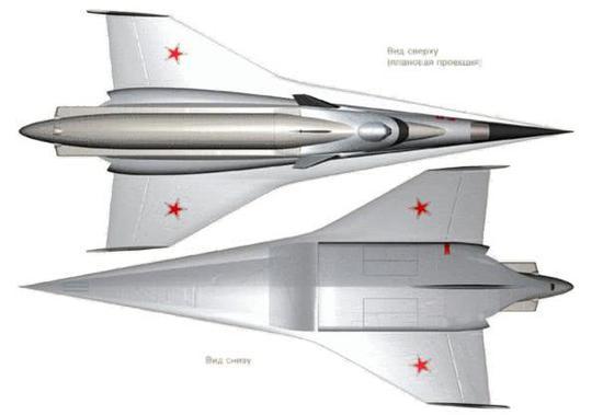 """用于搭载米格105的""""螺旋""""空天飞机"""