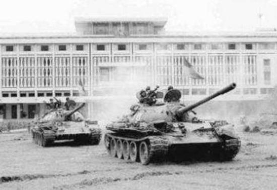 北越坦克冲入西贡
