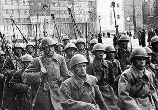 集结中的俄国军人