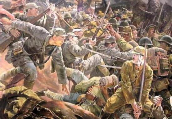 长期的战争中,敢于和敌人刺刀见红是我军的英勇传统