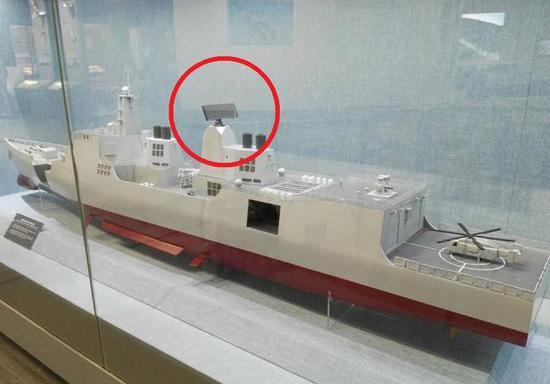 """图为网传""""052E驱逐舰模型""""照片"""