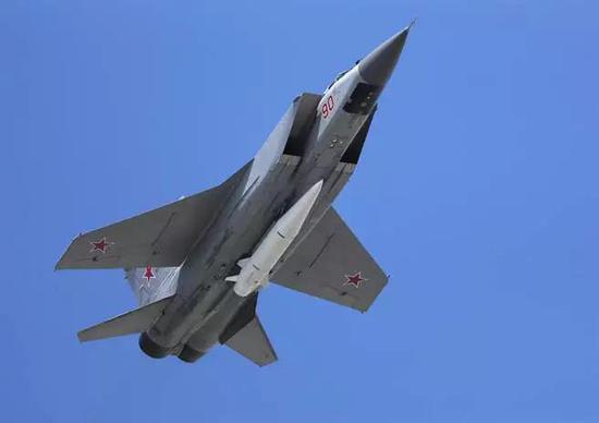 """▲资料图片:米格-31搭载""""匕首""""高超音速空对地导弹。(美联社)"""
