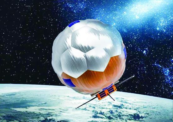 中国民营火箭送黑科技装备上天 入轨后膨胀成球状