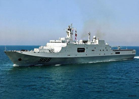 ▲071型两栖船坞登陆舰