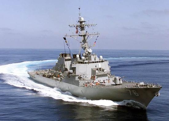 两艘美国军舰闯我西沙群岛领海 实施机动演习