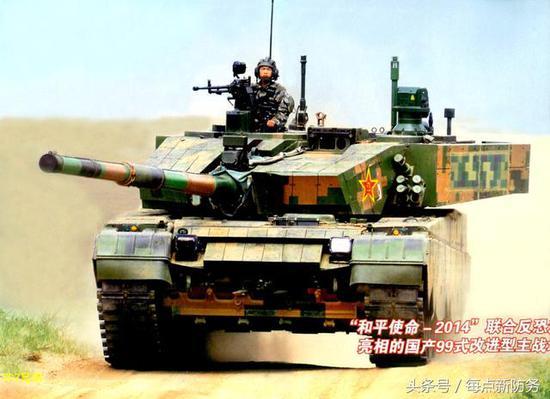 我99A2主战坦克皮厚火力强 主动灭火装置反应仅0.1秒