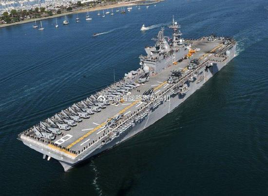"""美海军""""马金岛""""号两栖戒备群兵分两路 进入南海活动"""