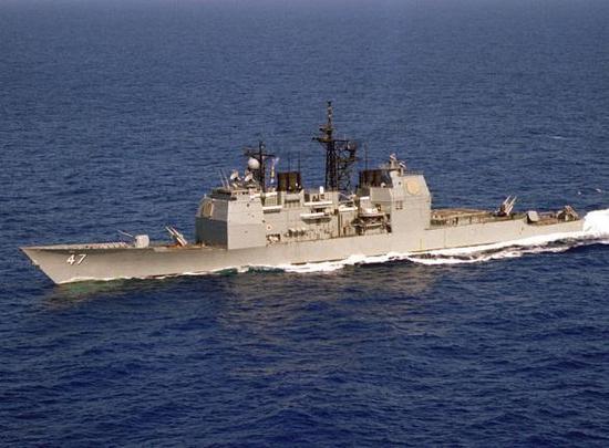 (图为提康德罗加级巡洋舰提康德罗加号(CG47),首五艘头尾均有导弹发射器)