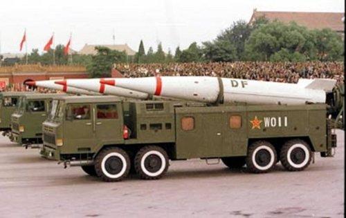 1999年阅兵式上的DF-15,还没有弹头机动能力