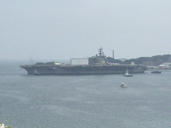 美军里根号航母完成巡航南海及西太后 返回横须贺