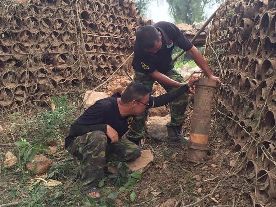 金门三狮山炮堡的战地史迹全遭破坏,令人唏嘘(图片来源:联合新闻网)