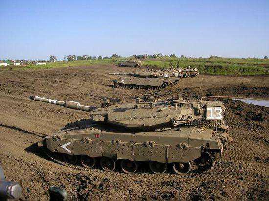 图为部署在戈兰高地的以军装甲部队