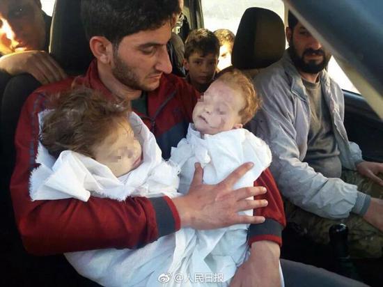 在叙利亚出生的孩子们都要迎接命运的蹂躏。