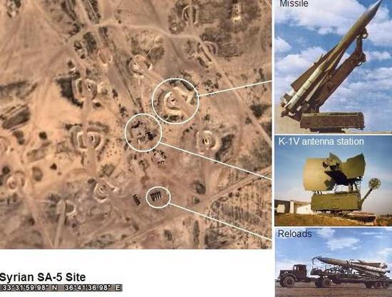 图为一个标准的叙利亚SA-5地空导弹阵地。