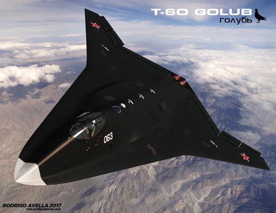 俄六代机原型机曝光:采用无人驾驶未来可在太空飞行