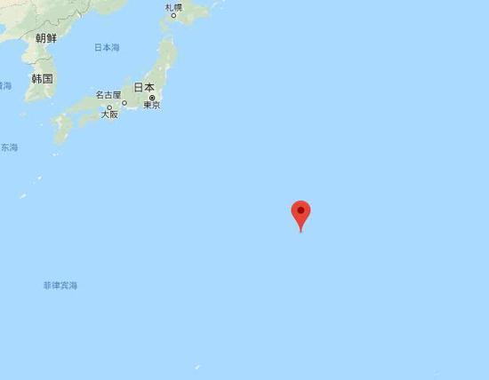 南鸟岛位置示意