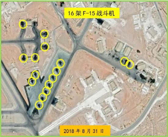 約旦艾茲賴尚格空軍基地常駐F-15戰鬥機