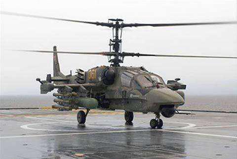 原料图:卡52武装直升机
