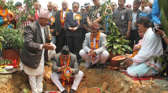 中国企业承建尼泊尔第二个国际机场开工 尼总理奠基