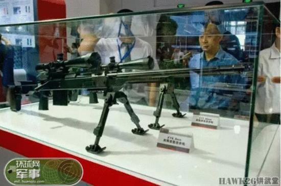 雄鹰集团展出的XY型8.6mm高精度狙击步枪