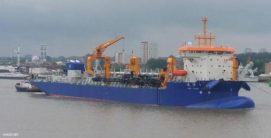 中国再添1艘南海岛礁建设巨无霸 投资1.6亿欧元(图)