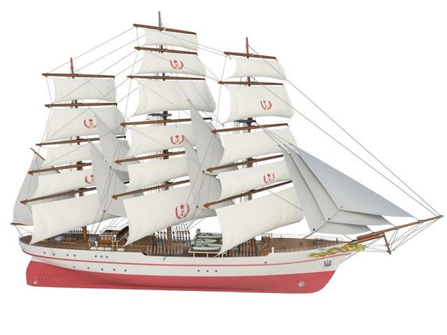 首艘风帆训练舰即将加入海军