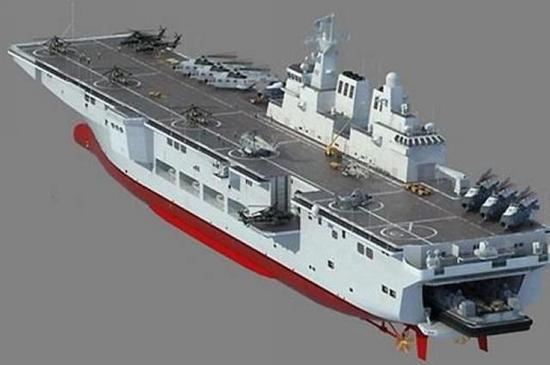 海军专家透露中国075型两栖攻击舰进展 最快可能在年内就开工
