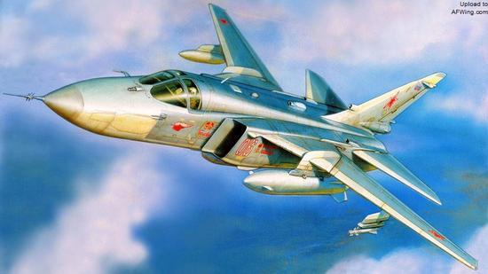 苏-24有炸弹卡车之名,机群可以携带火箭弹、炸弹等直接对被压制后的敌人防空阵地进行硬杀伤