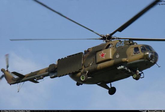 更先进的米-8PP电子干扰直升机