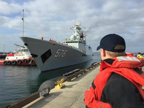 我国海军舰艇编队到达圣迭戈 美国大选后我国戎行首次到访