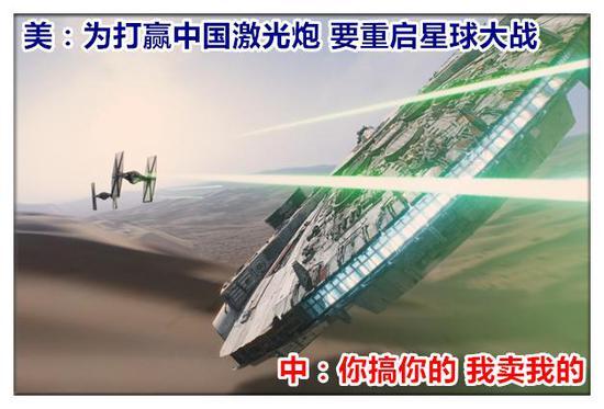 美:为打赢中国激光炮 要重启星球大战 中:你搞你的 我卖我的