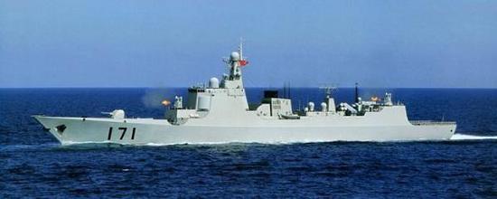 同级舰171海口舰,隶属南海舰队